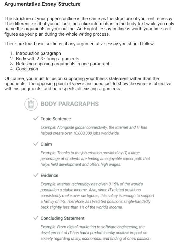 Argumentative Essay Examples With Format And Outline At Kingessays View Sample Argumentative Essay Structure Examples Of Argumentative Essays Essay Writing Examples For High School also Personal Essay Samples For High School  Essays On English Language