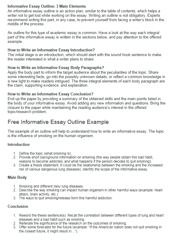 how to write an informative essay writers guide at kingessays informative essay outline
