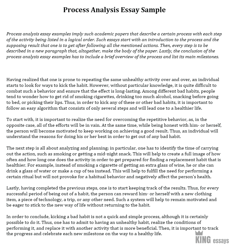 Process Analysis Essay Examples with Step-by-Step Instructions