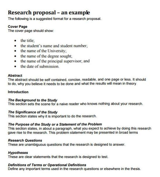 Dissertation research proposal structure