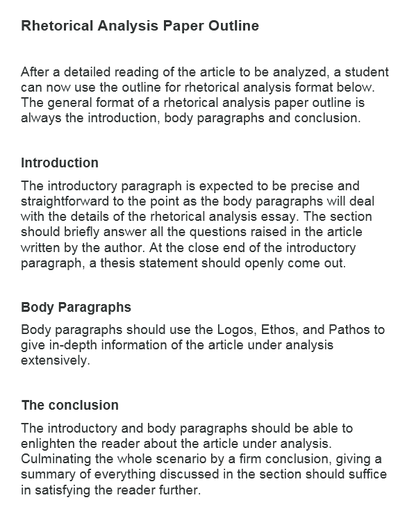 how to write a rhetorical analysis essay example