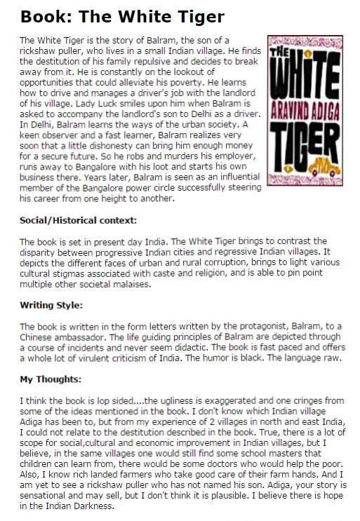 how to write a book report sample