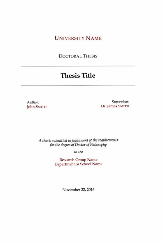 A Sample Thesis