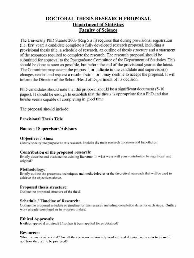 Sample Research Proposal Template Trattorialeondoro