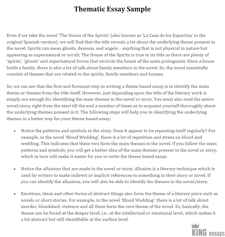 Examples Of Essay Plans  A Speech Essay also Essay Writing Techniques How To Write A Thematic Essay Theme Essay With Examples Essay On Jawaharlal Nehru